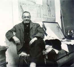 Ferdinand Hodler im Atelier