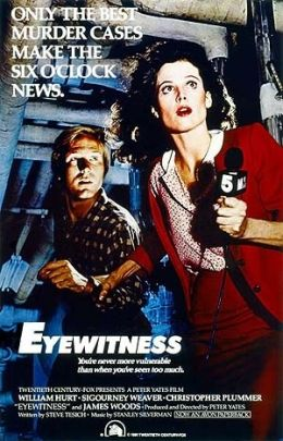 William Hurt und Sigourney Weaver in 'Eyewitness'