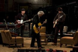 Jimmy Page, The Edge und Jack White in 'It Might Get Loud'
